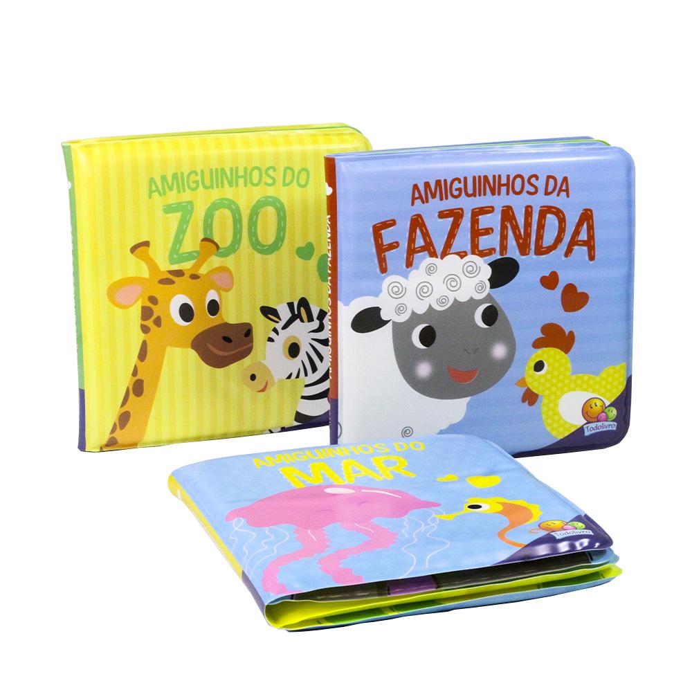 Kit Livro de Banho | Amiguinhos | 3 Livros