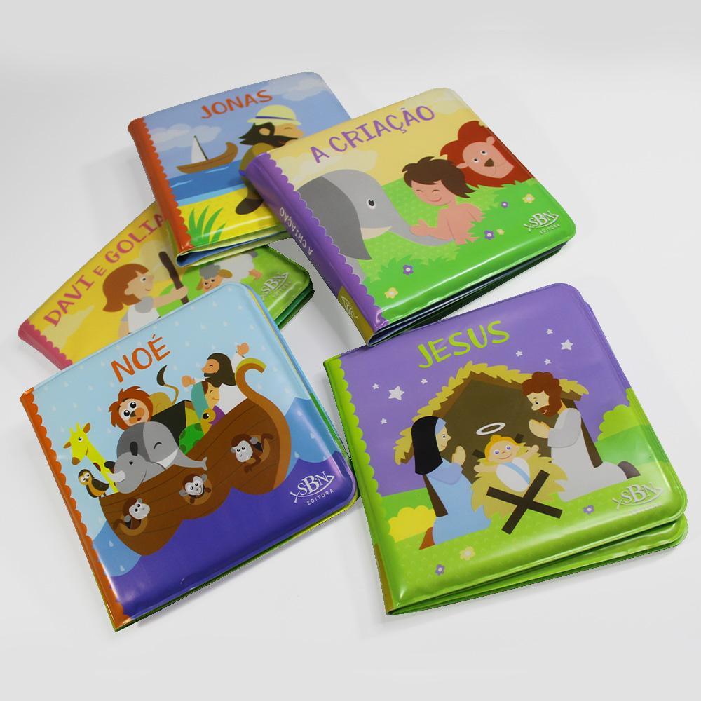 Kit Livro De Banho   Bíblicos   05 Livros