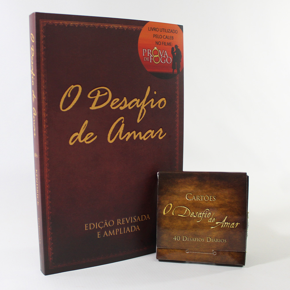 Kit O Desafio de Amar | Livro + Cartões