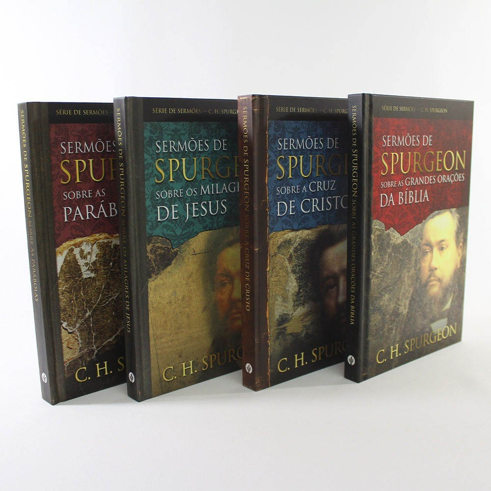 Kit Sermões de Charles Spurgeon Capa Dura | 4 Livros
