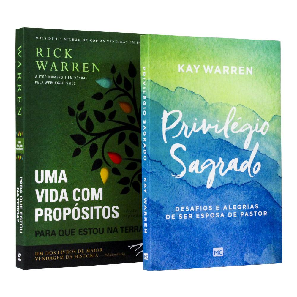 Kit Uma Vida com Propósitos + Privilégio Sagrado | Rick e Kay Warren