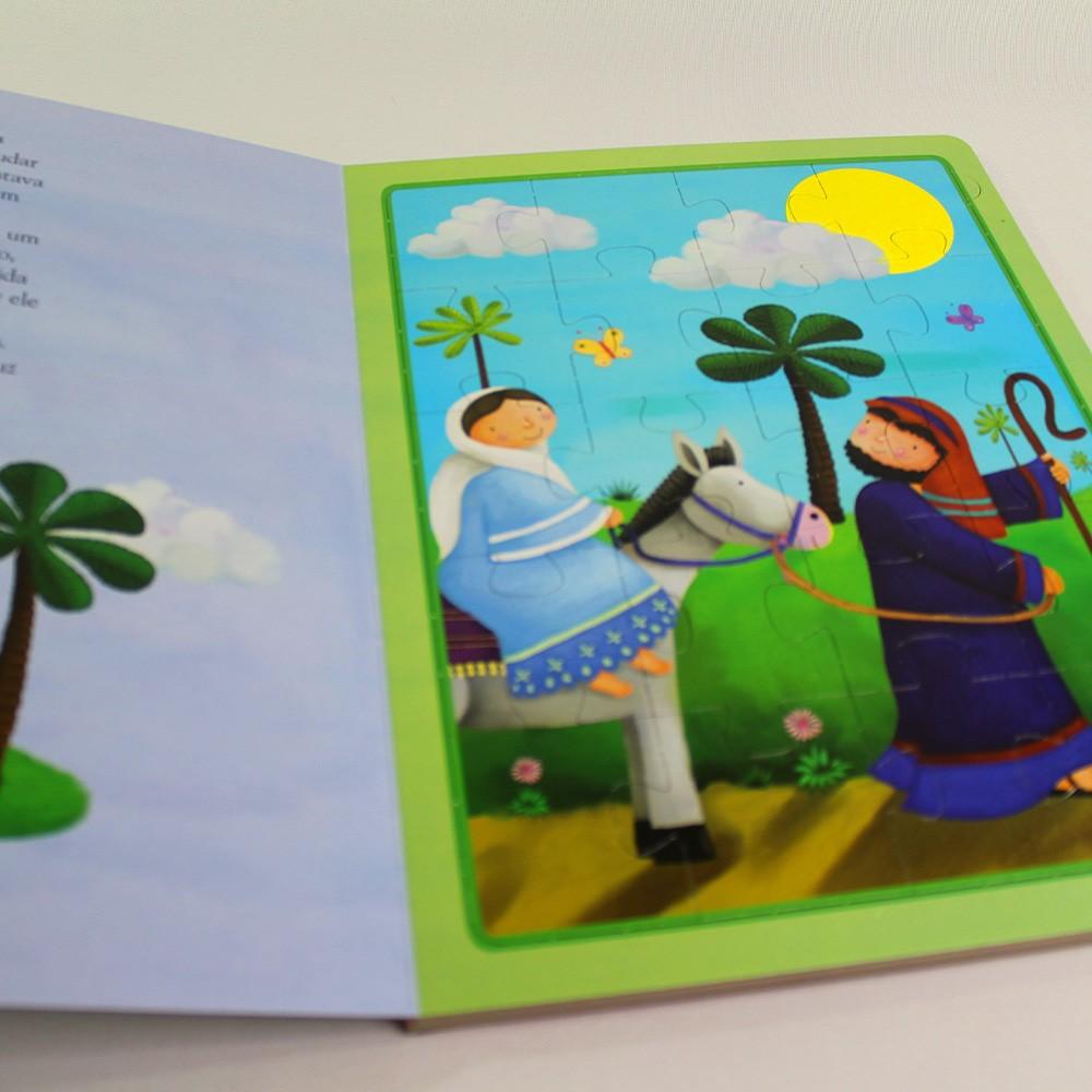 Leia e Monte O Nascimento de Jesus Quebra-cabeça
