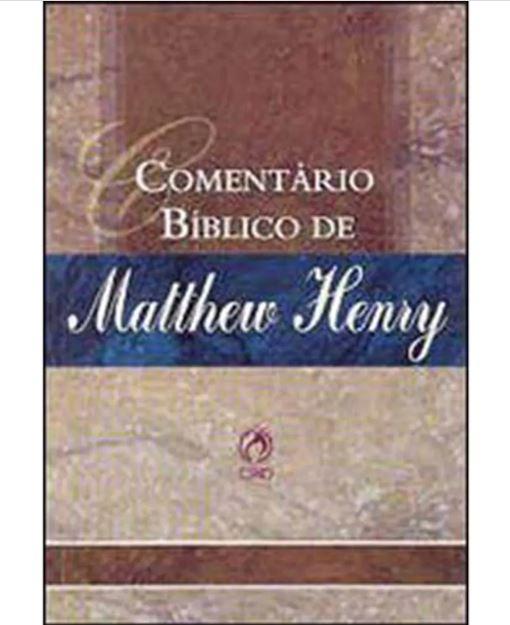 Livro Comentário Bíblico de Mattew Henry