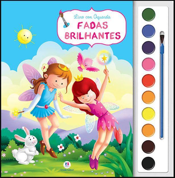 Livro de Pintar Aquarela - Fadas Brilhantes