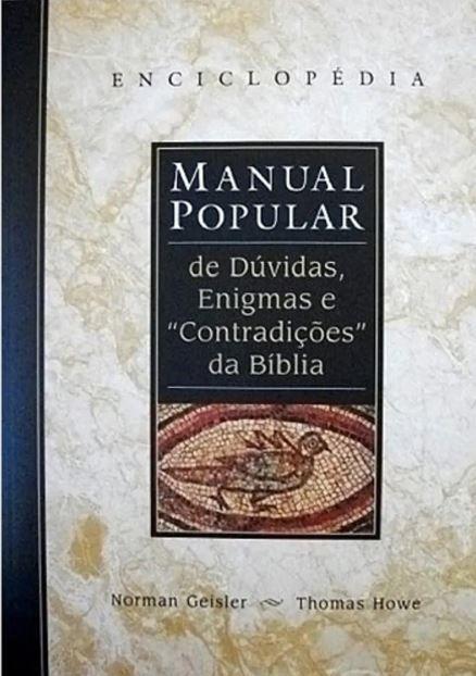 Livro Manual Popular de Dúvidas Enigmas e Contradições da Bíblia