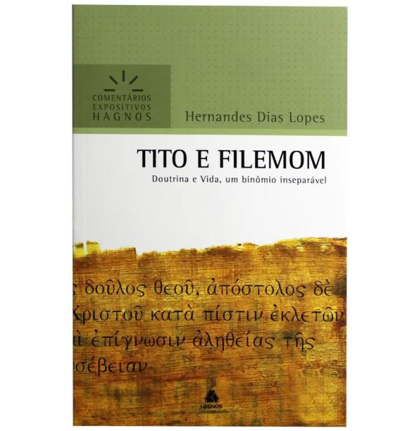 Livro Tito e Filemom Comentário Expositivo