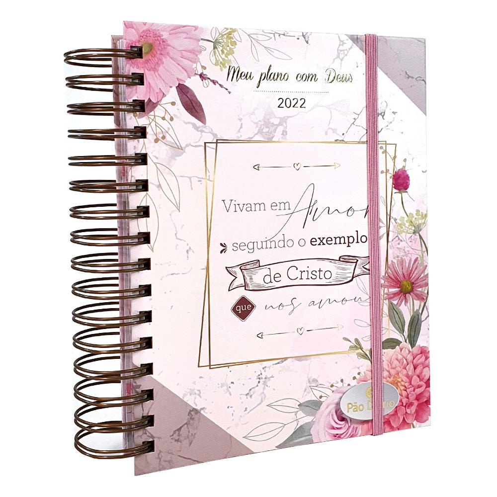 Meu plano com Deus | Planner 2022 | Pão Diário | Exemplo de Cristo Rosa