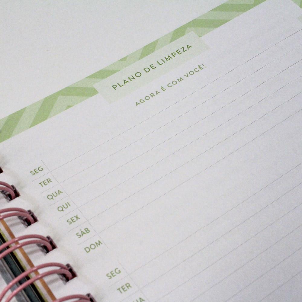 Meu Plano Perfeito - Flores com Listras | Espiral Rosa
