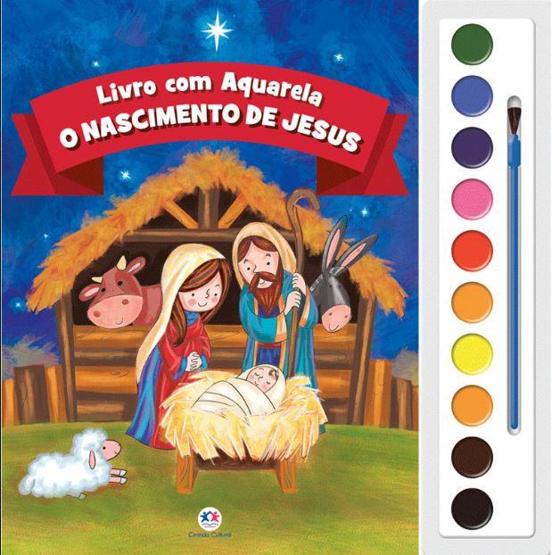 O Nascimento de Jesus - Aquarela