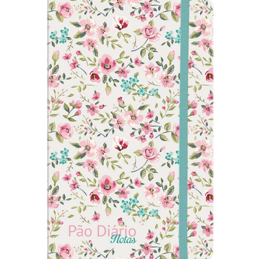Pão Diário Notas com Linhas | Verde Floral