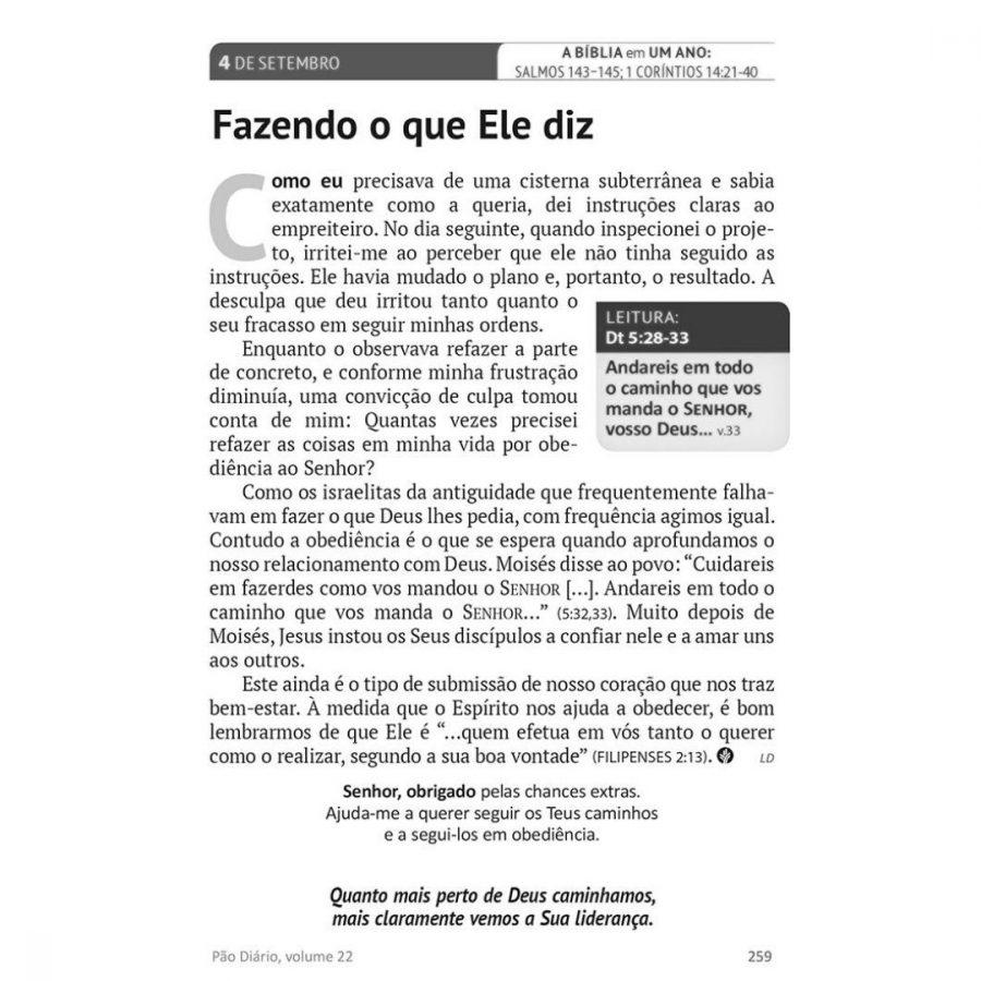 Pão Diário   Volume 24   2021   Tempo Certo
