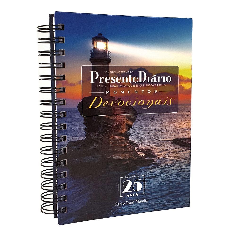Presente Diário Vol. 25   Ano 2022   Momentos Devocionais   Wire-o   Capa Farol