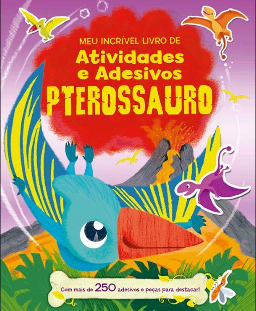 Pterossauro com Atividades e Adesivos