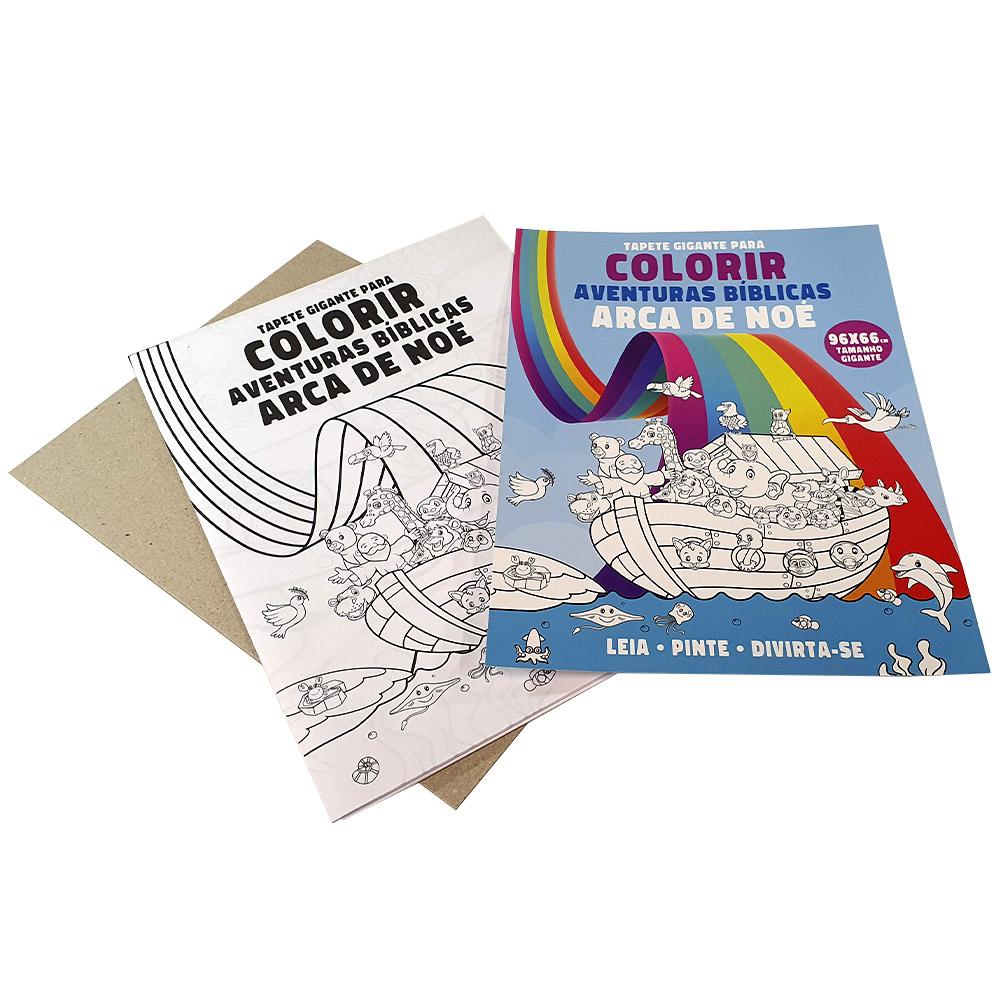 Tapete Gigante para Colorir | Arca de Noé | Aventuras Bíblicas