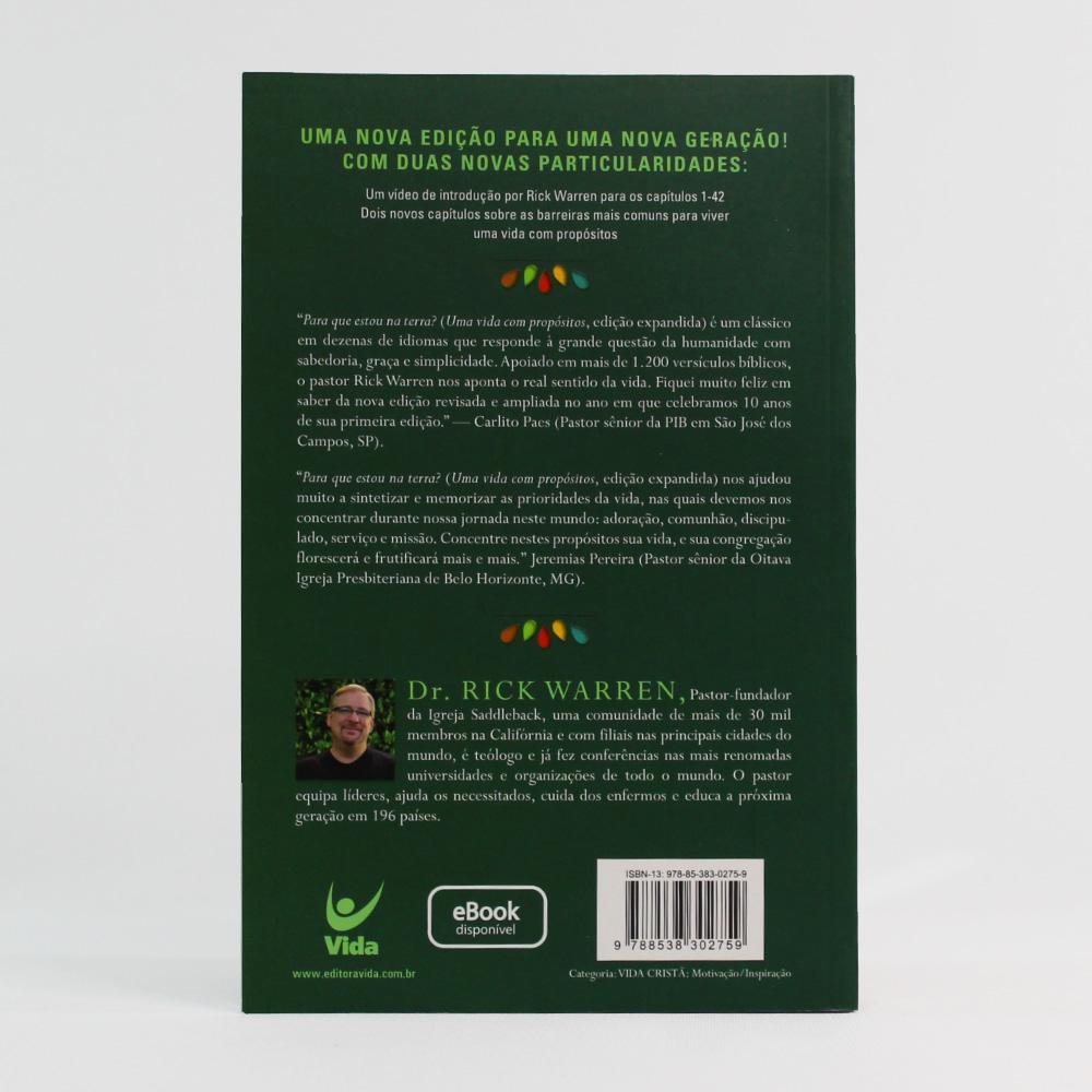 Uma Vida com Propósito: Para que Estou na Terra? | Rick Warren