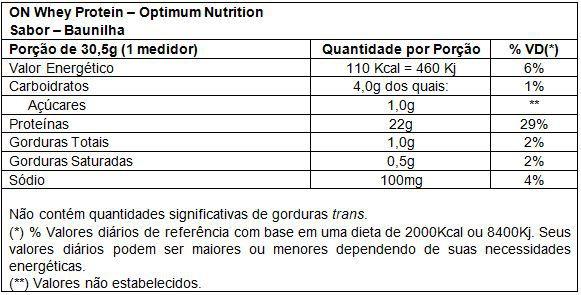100% Whey Protein 837g Optimum Nutrition