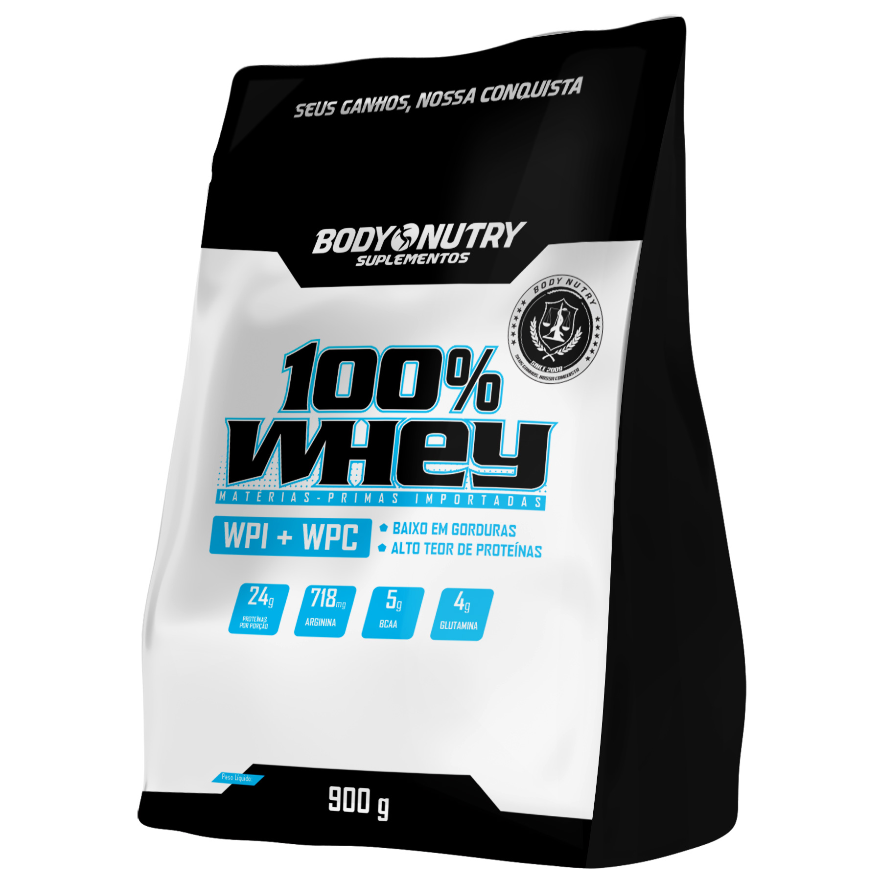 100% Whey Refil 900g Body Nutry