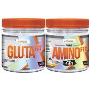 Kit Massa e Recuperação Glutafit 300g + Amino Fit 300g - ExtremeFit