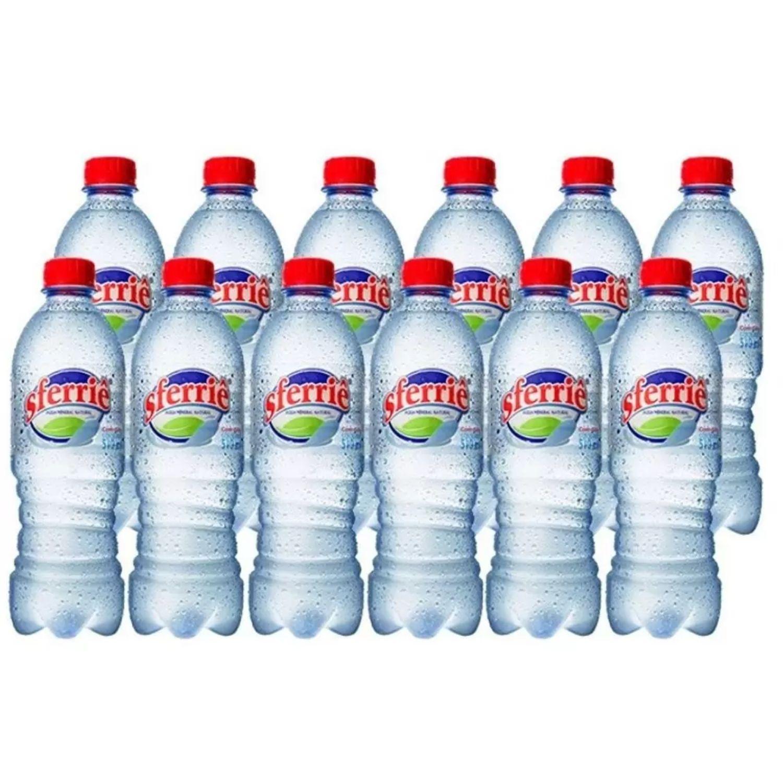 Água Mineral 510ml Sferriê Com Gás com pH 10 e Vanádio Pack com 12 Unidades
