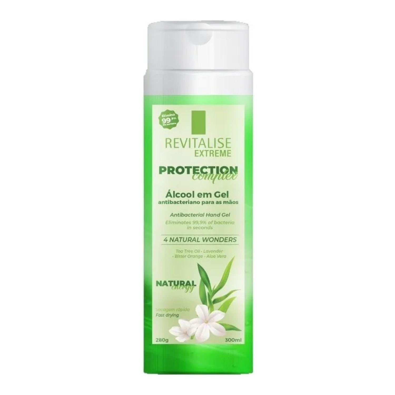 Álcool Gel 70% 30ml com Aloe Vera Antibacteriano para as Mãos Revitalise Extreme