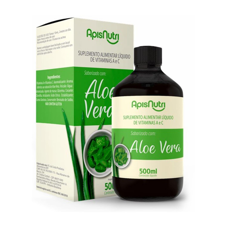 Aloe Vera com Vitaminas A e C 500ml Apisnutri