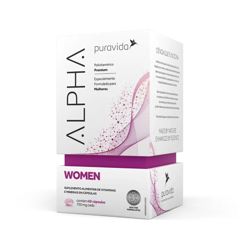 Alpha Women Polivitamínico Premium 60 Cápsulas Puravida