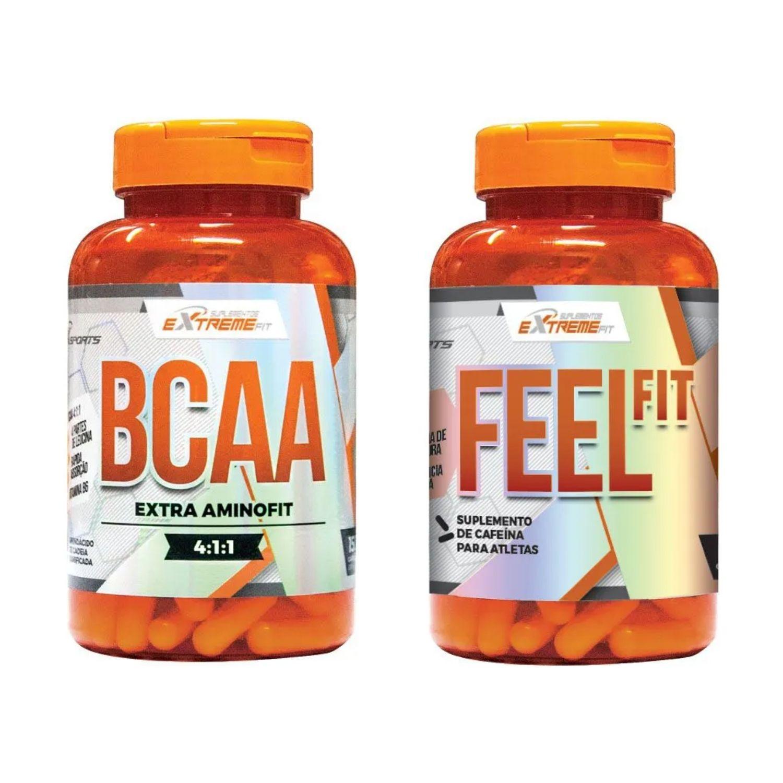 Amino Fit BCAA 4:1:1 150 cápsulas + Termogênico Potente Feel Fit 60 Cápsulas - ExtremeFit