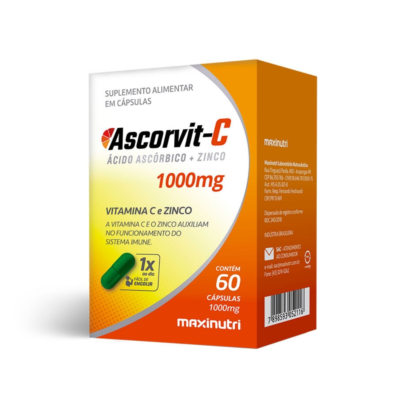 Ascorvit C 1000mg 60 Cápsulas Maxinutri