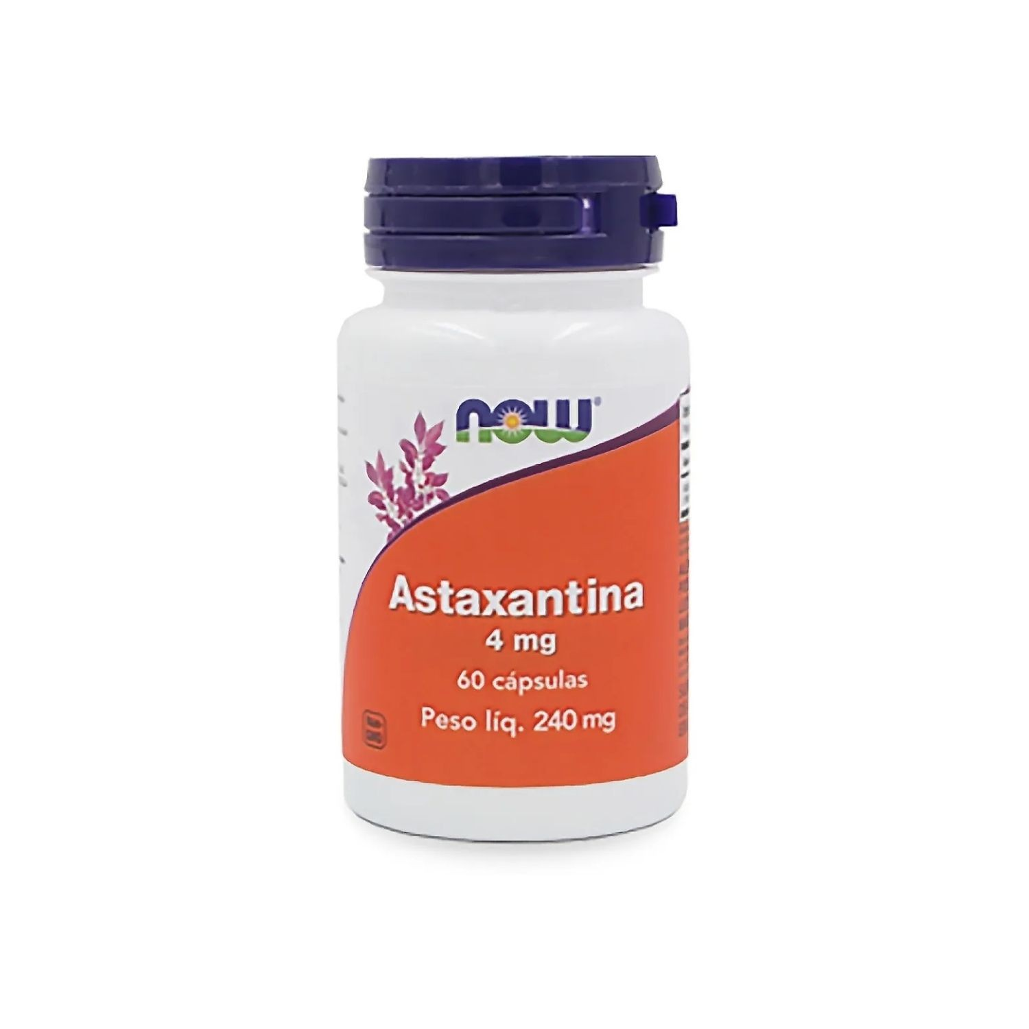 Astaxantina 4mg 60 Cápsulas Now Foods