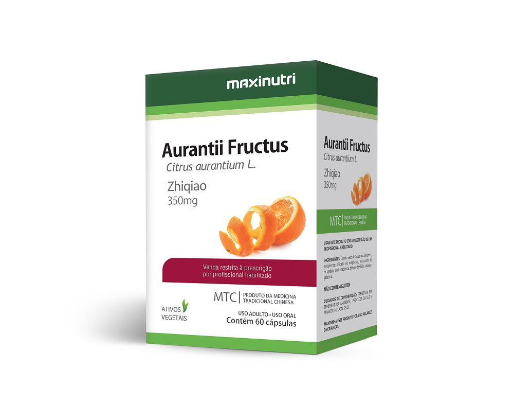 Aurantii Fructus 350mg 60 Cápsulas Maxinutri