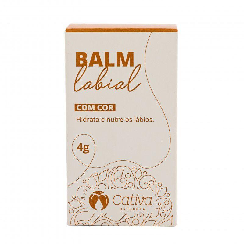 Balm Labial Orgânico Natural Vegano com Cor 4g