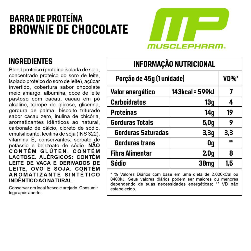 Barra de Proteína Combat Crunch Muscle Pharm Brownie De Chocolate 45g