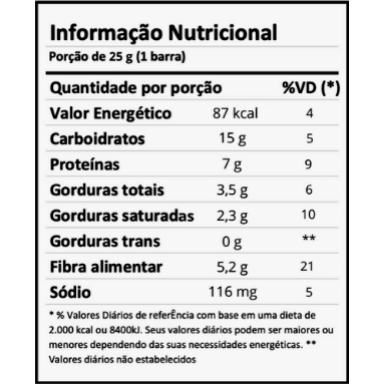 Barra Proteica Dobro MINI Bolo de Cenoura 25g