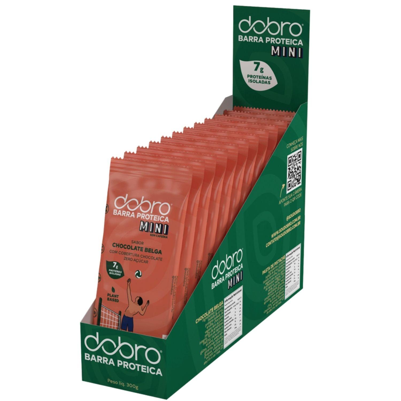 Barra Proteica Dobro MINI Chocolate Belga 25g Caixa com 12 Unidades