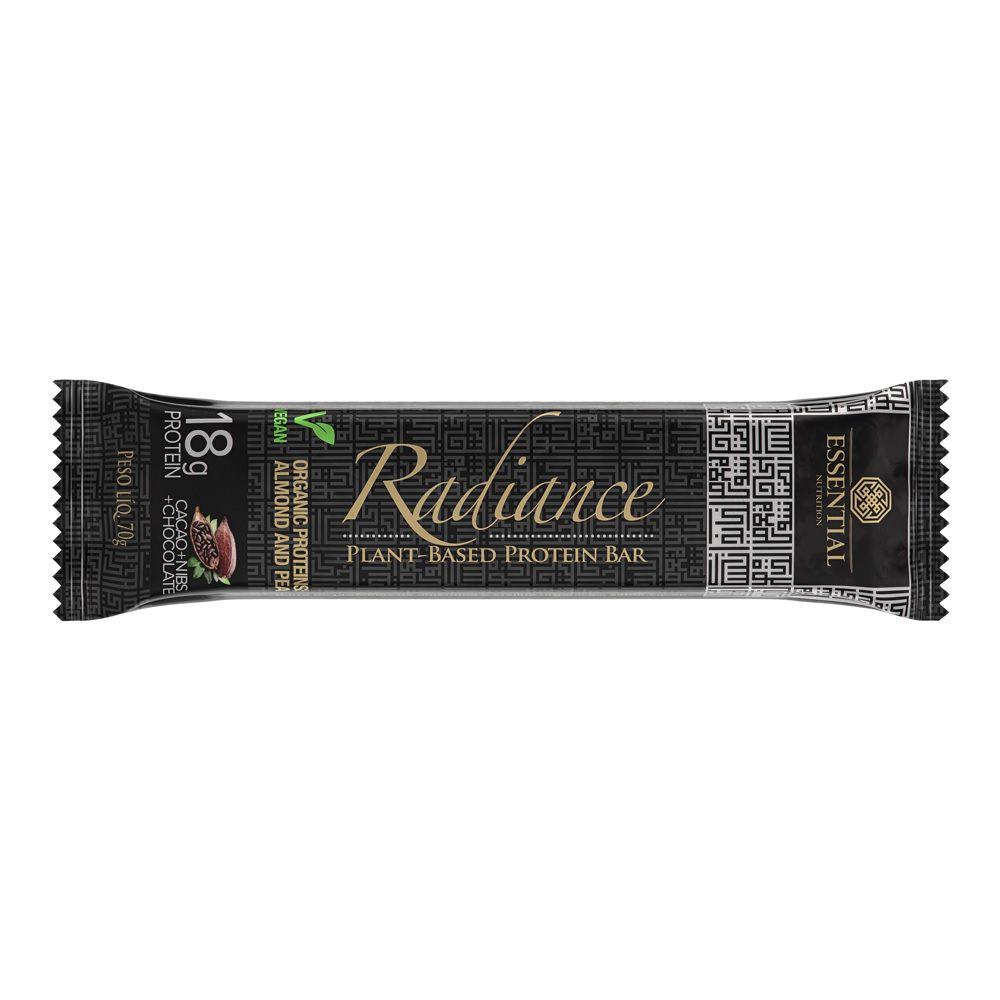 Barra Radiance Nibs de Cacao 70g Vegan Protein Essential Nutrition