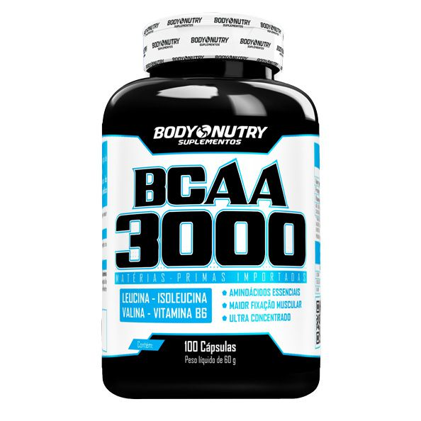 BCAA 3000 (100 Cápsulas) Body Nutry