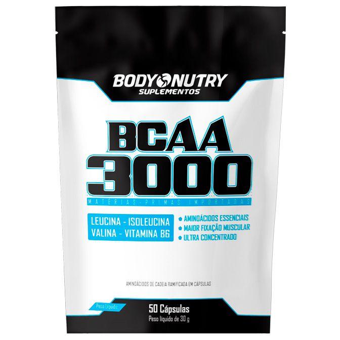 BCAA 3000 (50 Cápsulas) Body Nutry