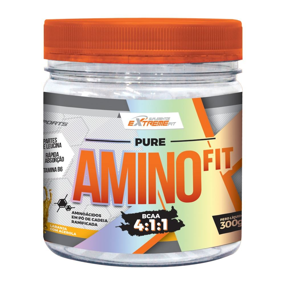 BCAA 4:1:1 Com Vaso Dilatador Pure Amino Fit 300g ExtremeFit
