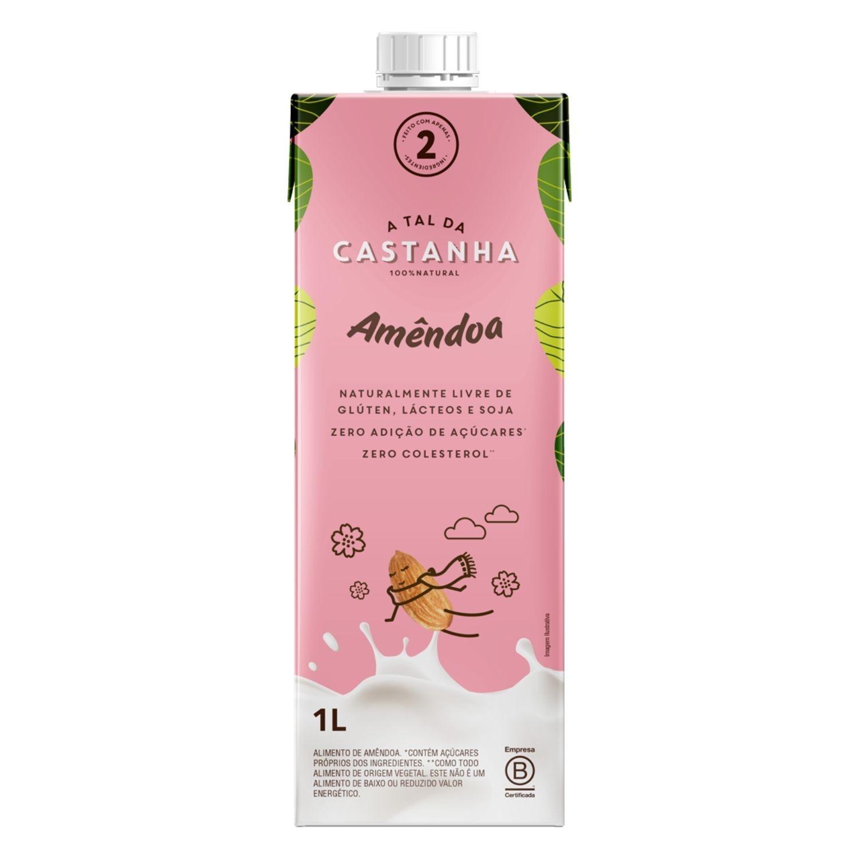 Bebida de Amêndoa 1L Vegetal Orgânica A Tal da Castanha