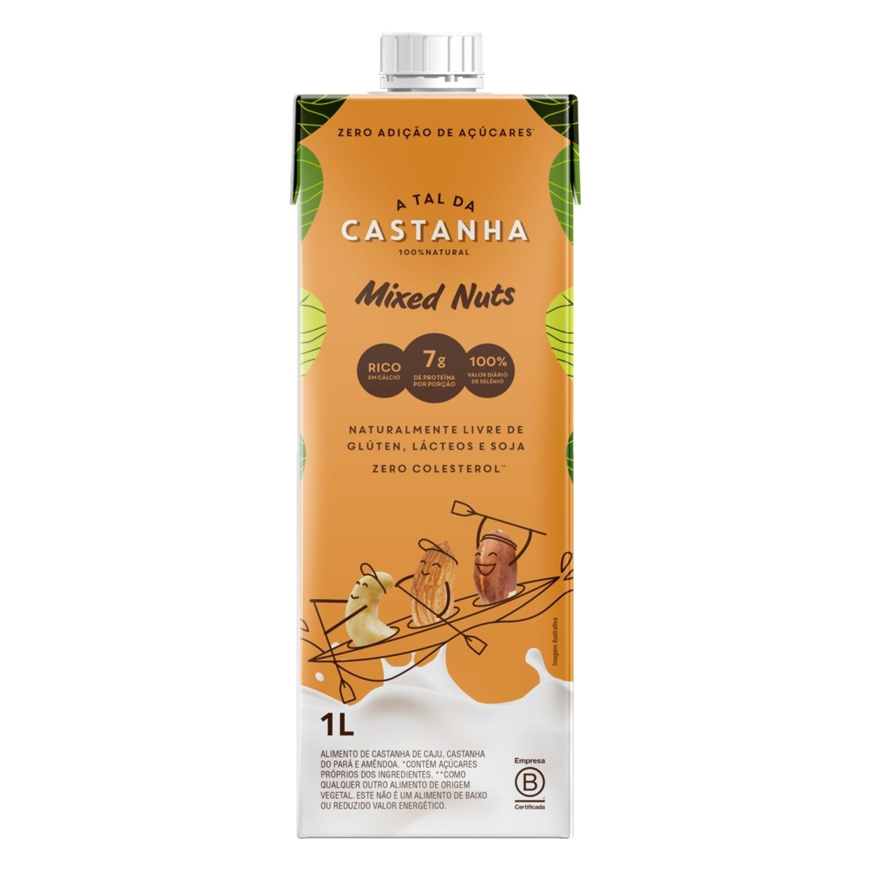 Bebida de Castanhas Mixed Nuts 1L Vegetal Orgânica A Tal da Castanha