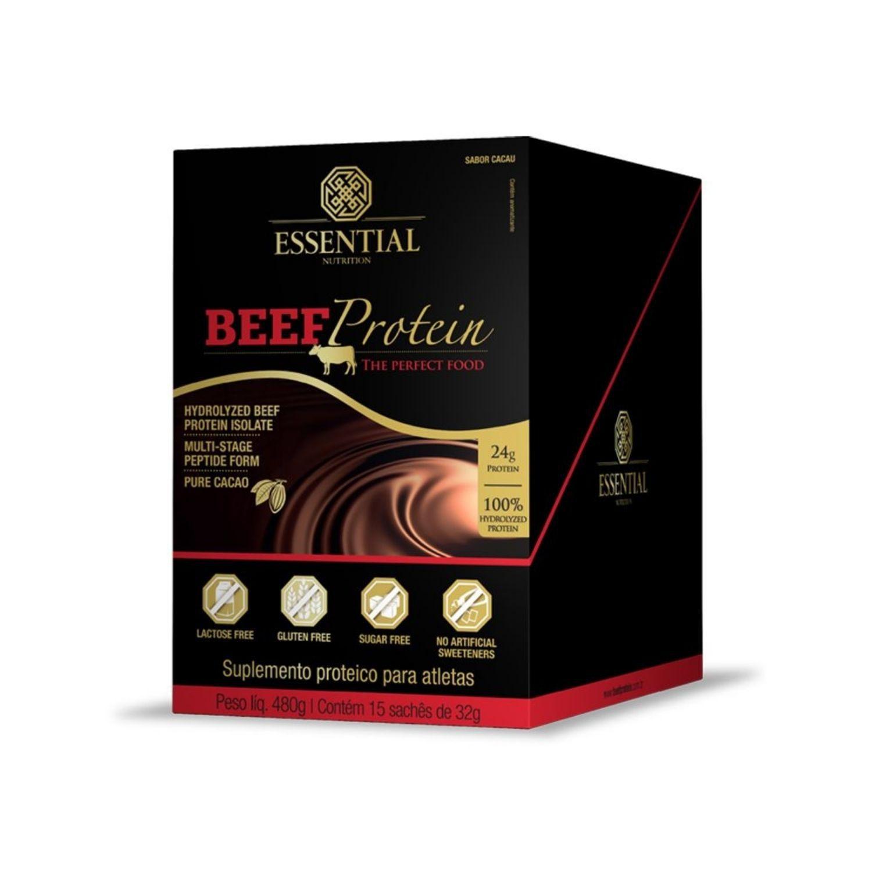 Beef Protein 15 Sachês de 32g Cada Essential Nutrition