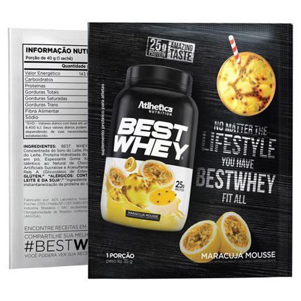 Best Whey Sachê Atlhetica Nutrition