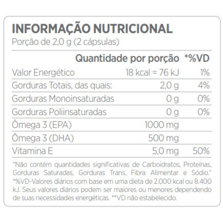 Biomega 50/25 Ômega 3 TG Cleanlab 60 Cápsulas Atlhetica Nutrition