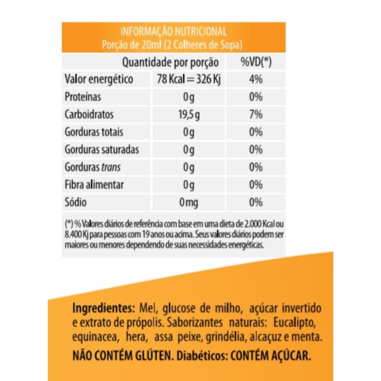 Bronco Imuni com Mel e Própolis 280ml Apisnutri