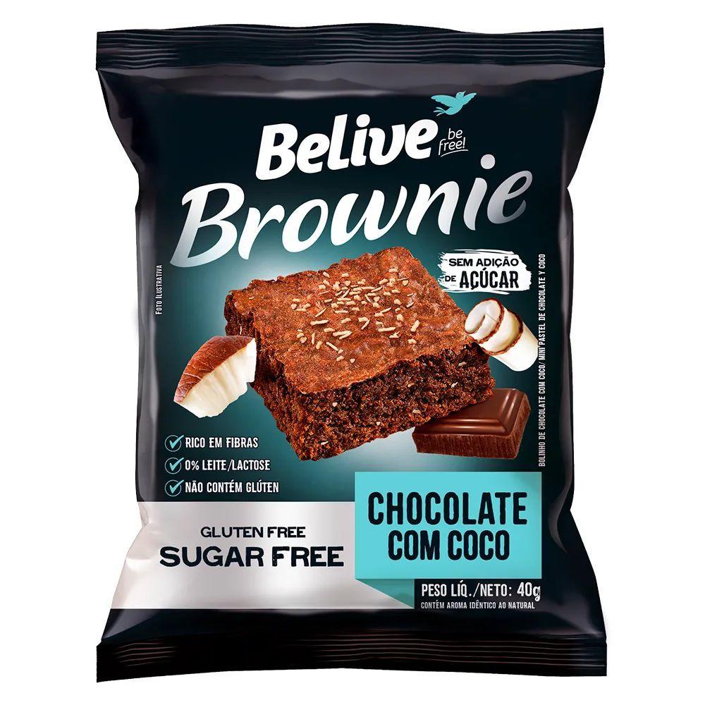 Brownie Chocolate com Coco 45g Belive Sem Açúcar