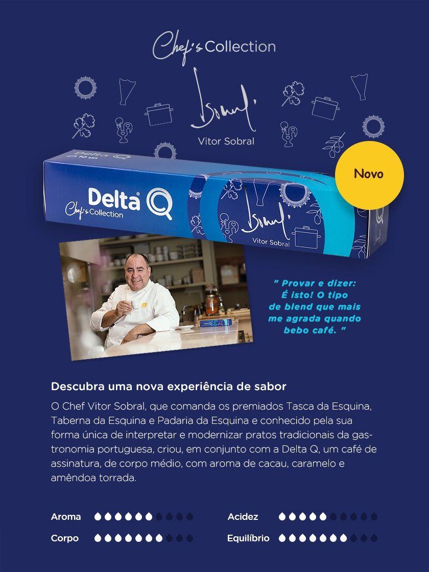 Café Expresso Delta Q Chef's Collection Vitor Sobral com 01 Cápsula