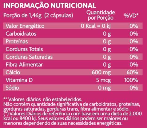 Calcium Maxx + D3 60 Cápsulas Maxinutri