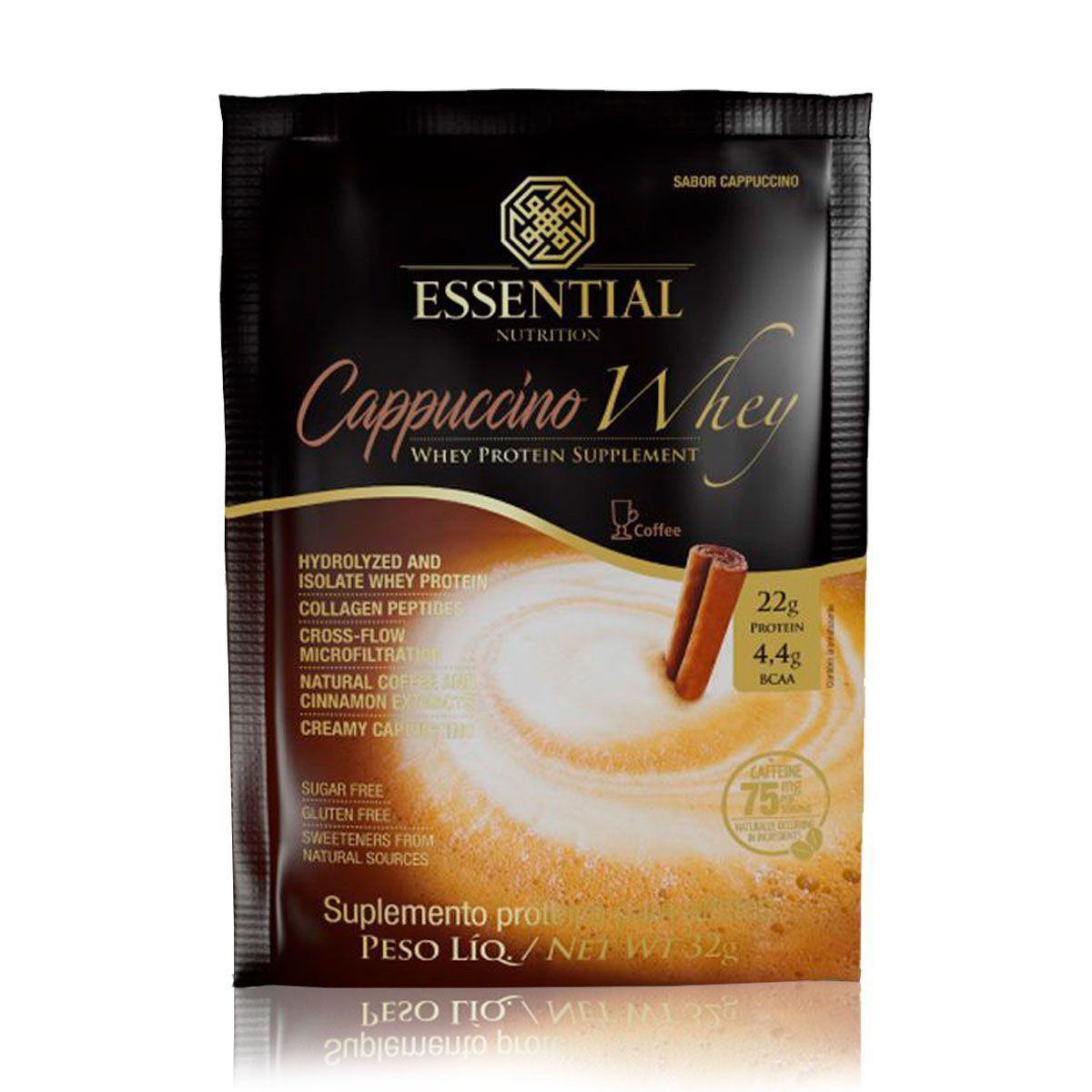 Cappuccino Whey Sachê Essential Nutrition