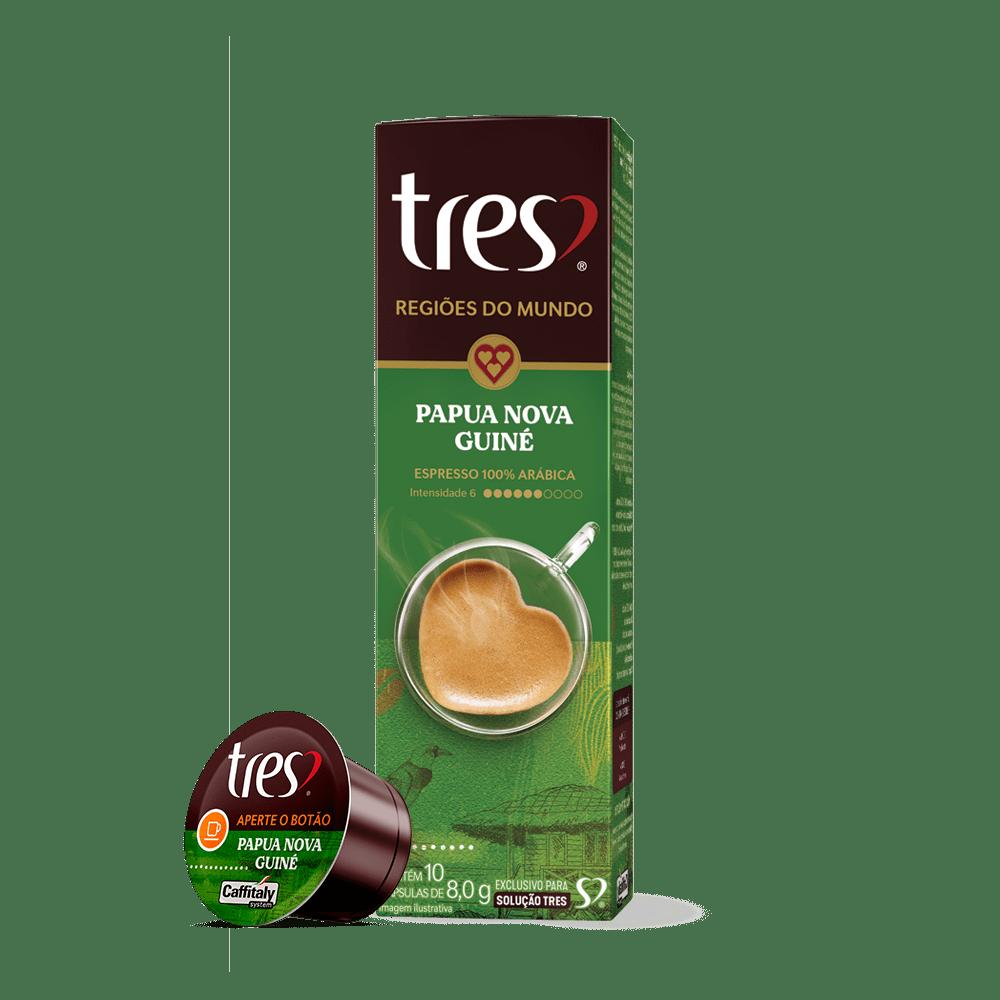 Cápsula de Café Espresso Regiões Papua Nova Guiné TRES 10un