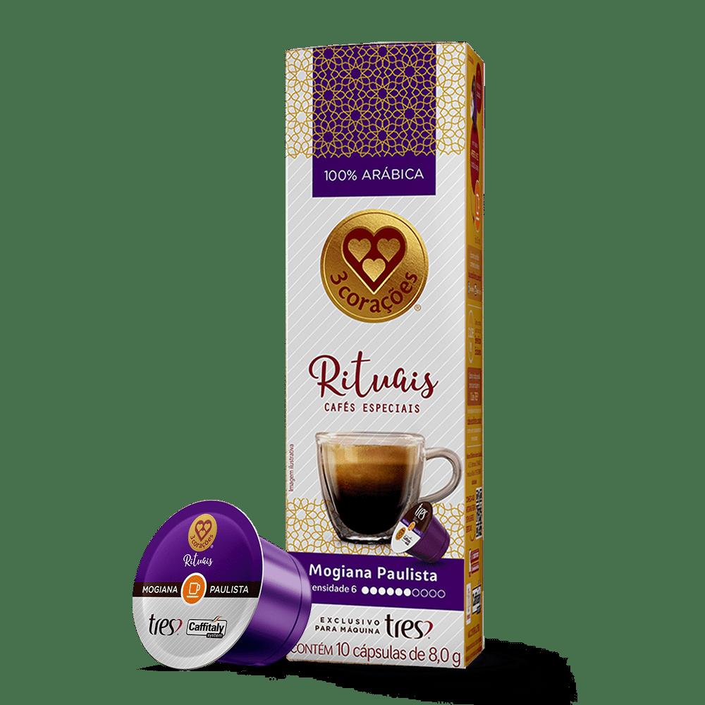 Cápsula de Café Espresso Rituais Mogiana Paulista TRES 10 un